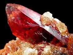 Zincite crystal -- Silesia, Poland