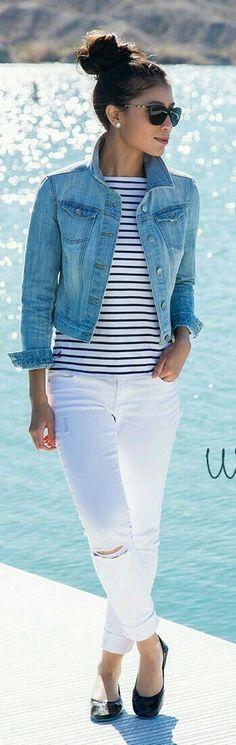Cute light blue jean jacket