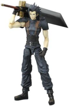 Zack Fair play arts: Square Enix has designed this figure putting much detail into the outfit, it also comes with; Poseable arms and legs..etc