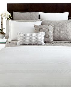 Hotel Collection Bedding, Pair of Woven Pleats Standard Shams - Bedding Collections - Bed & Bath - Macy's