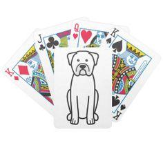 Dogue de Bordeaux Dog Cartoon Deck Of Cards