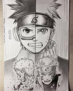 Desenho Obito Uchiha e Naruto Uzumaki Naruto Shippuden Sasuke, Naruto Kakashi, Anime Naruto, Boruto, Konoha Naruto, Otaku Anime, Manga Anime, Naruto Sketch, Naruto Drawings