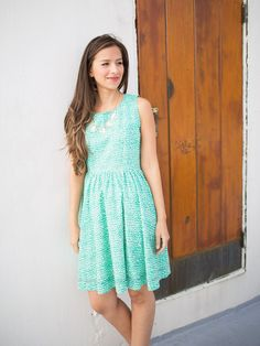 Cameo Dress Green by Mata Traders. Super cute ethical fashion dress. Mata Traders is a design driven, fair trade brand helping to end global poverty and inspire ethical companies and consumers to change the fashion industry. Made by artisans in India and Nepal.