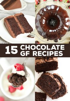 These 15 gluten free chocolate recipes have something for absolutely everyone, from dark chocolate lovers to white-chocolate-only people.