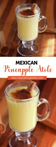 How to make Pineapple Atole One of my favorite flavors is pineapple so Im taking advantage of the last cool evenings here where I live and enjoy a nice hot cup of pineapple atole made with DOLE pineapple chunks. Authentic Mexican Recipes, Mexican Food Recipes, Vegan Recipes, Cooking Recipes, Ethnic Recipes, Juice Recipes, Mexican Drinks, Mexican Dishes, Mexican Potluck