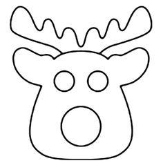 free applique pattern - reindeer