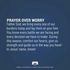 Prayer over Worry