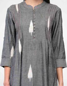 Online Indian Fashion Store for Women-Designer Women Store Ogaan Simple Kurti Designs, Kurta Designs Women, Dress Neck Designs, Blouse Designs, Kurta Patterns, Ikkat Dresses, Kurta Neck Design, Mode Hijab, Indian Designer Wear