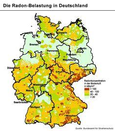 Radon-Belastung in Deutschland: Eigenheimbesitzer und Erdgeschossbewohner in bestimmten Regionen sollten Messungen durchführen lassen - und bei entsprechenden Werten Bodenplatte und Kellerwände abdichten