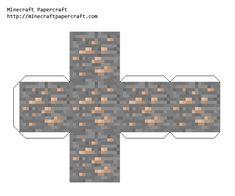 Papercraft Iron Ore Minecraft Templates, Minecraft Pattern, Minecraft Toys, Minecraft Blueprints, Minecraft Crafts, Minecraft Party, Minecraft Skins, Minecraft House Designs, Minecraft Creations