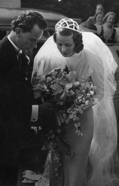 Ingrid Bergman's first marriage to dentist Petter Aron Lindström at the age of 21