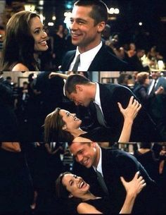 Angelina Jolie and Brad Pitt Brad And Angelina, Brad Pitt And Angelina Jolie, Jolie Pitt, Ms Smith, Mr And Mrs Smith, Movie Couples, Cute Couples, Beyonce, Brad And Angie