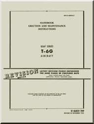 North American Aviation T-6  G  Aircraft  Maintenace  Manual - AN 01-60FFA-2    -  1949 - 1950