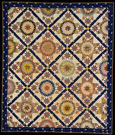 Star quilt made by members of the Jones or the Terry families mid-19th century. Collection of Colonial Williamsburg.