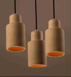 new modern European increative cement art decor pendent lamp E27 LED dinging room lamp bar lights A027 #Affiliate