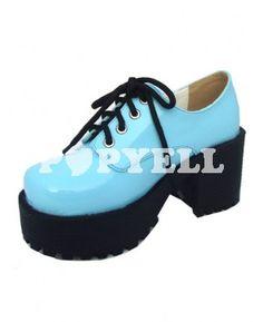 #chaussures #lolita #bleu Sky Blue Sweet 3 1 / 5  élévé '' Chaussures talon Lolita
