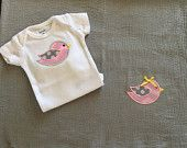 Onesie and swaddling blanket set by BabyRuthBoutique on Etsy
