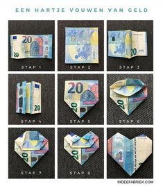 Giving money for a birthday or wedding is always difficult, because how do you make sure . Valentines Bricolage, Valentines Diy, Homemade Gifts, Diy Gifts, Don D'argent, Diy And Crafts, Crafts For Kids, Inspirational Gifts, Diy Projects To Try
