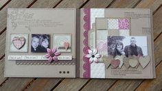 """Mini album """"toi et moi"""" - le scrap de christine: 20-05-2013 -->Page intérieure"""