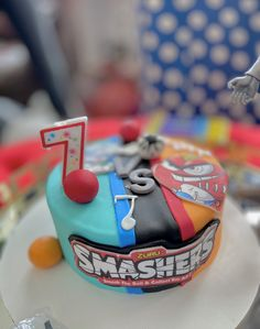A creative Smashers themed birthday cake from a party hosted here at Kidz Lounge🥳 Party Places For Kids, Birthday Party Places, Birthday Themes For Boys, Themed Birthday Cakes, Birthday Parties, Retro Arcade Games, Safe Cleaning Products, Halloween Party Themes, Glow Party