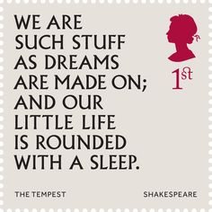 1st class UK stamp to celebrate the 400th anniversary of Shakespeare's death | The Tempest