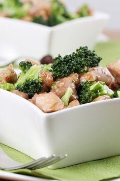 Recipe including course(s): Entrée; and ingredients: boneless, skinless chicken breast, broccoli, canola oil, chicken broth, corn starch, fresh ginger, orange, orange juice, reduced-sodium soy sauce, water