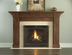 Gas Fireplace classic raised hearth Family Room Fireplace