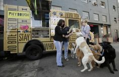 PhyDough food truck for dogs. Love this idea!