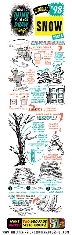 The Etherington Brothers: How to THINK when you draw SNOW tutorial