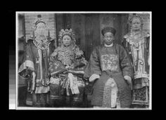 Wedding party, Shanxi, China, ca.1890 :: International Mission Photography Archive, ca.1860-ca.1960    #Wedding #Party #China