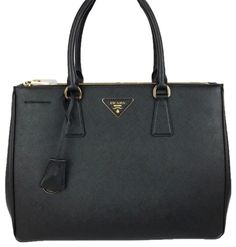 9bcf6f9e72b4 Save 43% on the Prada Double Lux Saffiano Large Zip Tote Black Leather  Satchel! This satchel is a top 10 member favorite on Tradesy.