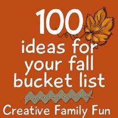 100 Ideas for Your Fall Bucket List ~ Creative Family Fun
