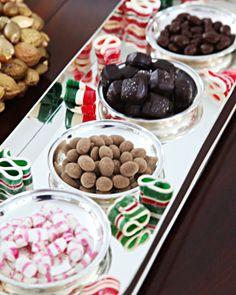 Delicious Trimming: Holiday candy is often set around Martha's house in Bedford, New York -- creating an edible display of color.