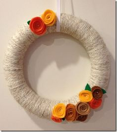 DIY Fall Yarn Wreath