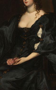 "Margaret, Lady Tufton"" (1632) (detail) - Anthony van Dyck"