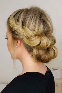How to do a Braided Bun Updo - With Curls on Yourself | Mine Forever