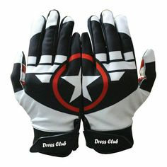 American Philadelphia Eagles Football Gloves With Glue Grip in Polyester fabric
