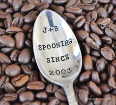 stamped spoons - cute anniversary gift!
