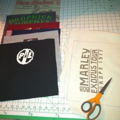 After watching several YouTube tutorials and fusing the tees with interfacing, here I'm really getting started...