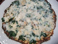 "Chicken Alfredo and Spinach ""Pizza"" - 1 Complete Lean and Green Meal, 3 Condiments, 1 Healthy Fat"