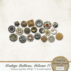 Vintage Buttons, Volume 13