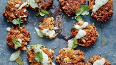 Cauliflower chickpea chia fritters