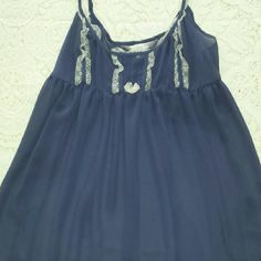 Victoria's Secret See through blue nightgown Very pretty Victoria's Secret see through blue nightgown with cream color lace. Size Large. Victoria's Secret Intimates & Sleepwear Bandeaus
