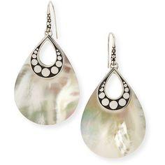 John Hardy Dot Mother-of-Pearl Drop Earrings (500 CAD) ❤ liked on Polyvore featuring jewelry, earrings, mother of pearl, dot earrings, earring jewelry, polka dot jewelry, carved mother of pearl jewelry and polka dot earrings