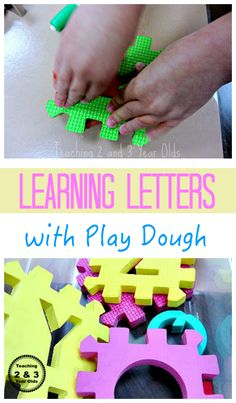Play Dough Fun with Letters - Teaching 2 and 3 Year Olds
