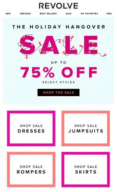 #web #weblayout #newsletter #sale #75% #holiday #shop