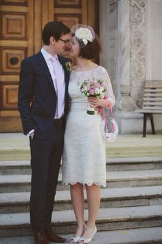 A vintage wedding dress from Fur Coat No Knickers of London, Love My Dress Vintage and Alternative Wedding Blog