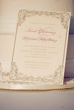 Vintage Romance Wedding Invitation