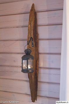 Meidän mökki – Purola - Sisustuskuvia jäseneltä LeilaKoistinen - StyleRoom Decor Interior Design, Interior Decorating, Wall Lantern, Diy Wall, Bottle Opener, Decor Styles, Tiny House, Lanterns, Sconces