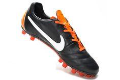 new style 61f76 3c9e7 Nike Tiempo Mystic IV AG Black White Total Orange Soccer Shoes, Soccer  Cleats, Black
